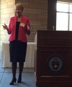 Speaking at the University of St. Thomas